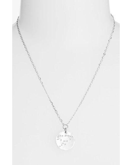 Nashelle - Metallic Ija 'large Zodiac' Sterling Silver Necklace - Lyst