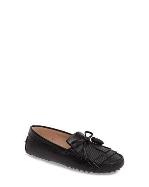 Tod's   Black Gommino Tasseled Kiltie Driving Shoe   Lyst