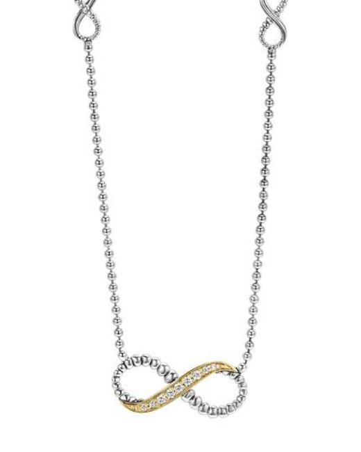 Lagos | Metallic 'beloved' Diamond Infinity Pendant Necklace | Lyst