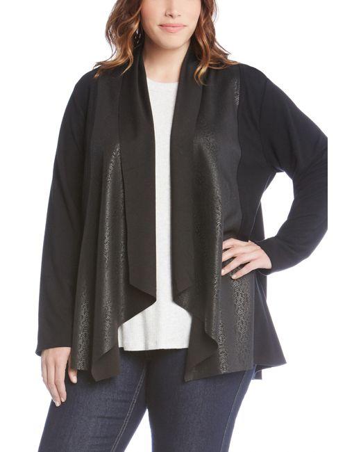 Karen Kane - Black Contrast Drape Front Jacket - Lyst