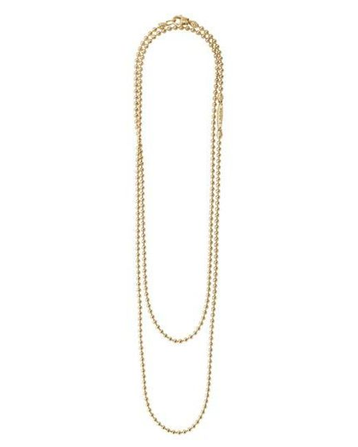 Lagos - Metallic Beaded Caviar Necklace - Lyst