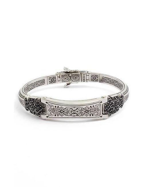 Konstantino - Metallic Double Stavros Spinel Cross Cuff Bracelet for Men - Lyst