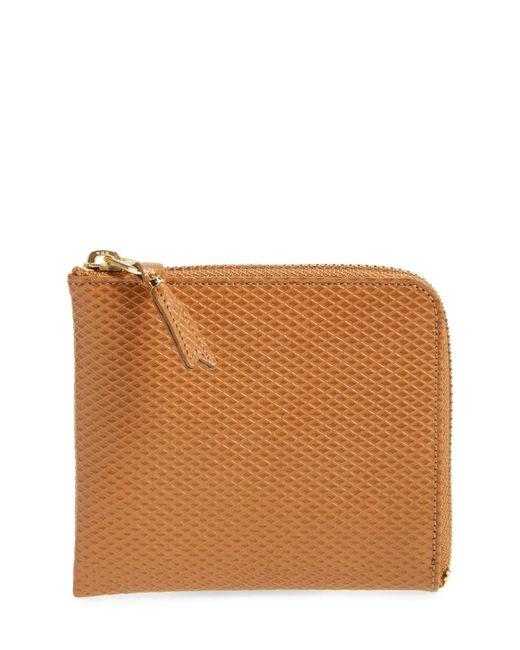 Comme des Garçons - Natural Half Zip French Wallet for Men - Lyst
