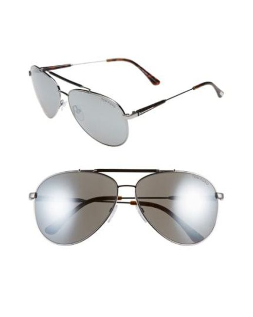Tom Ford - Pink 'rick' 62mm Aviator Sunglasses - Lyst