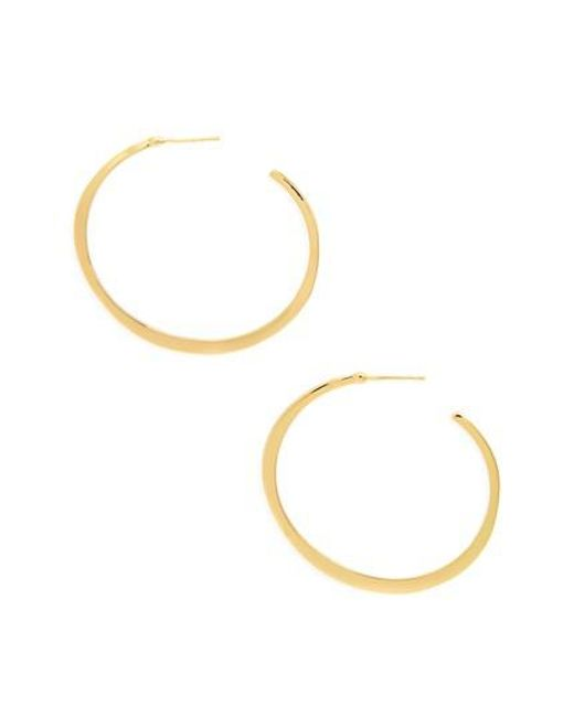 Gorjana | Metallic 'arc' Hoop Earrings | Lyst