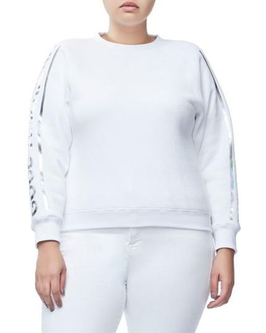 GOOD AMERICAN - White Crewneck Sweatshirt - Lyst