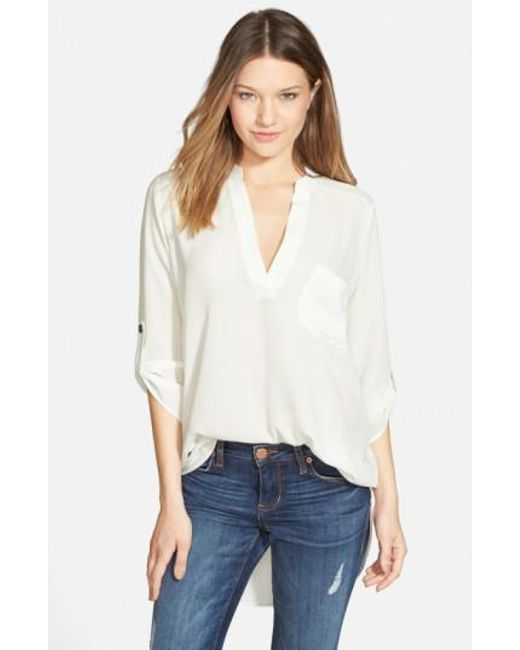 Lush   White Perfect Crepe Tunic Top   Lyst