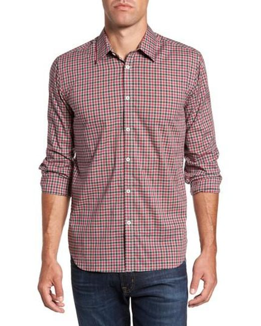 Jeremy Argyle Nyc | Red Slim Fit Check Sport Shirt for Men | Lyst