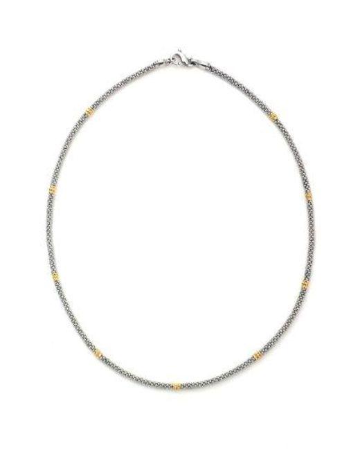 Lagos - Metallic Caviar Rope Necklace - Lyst