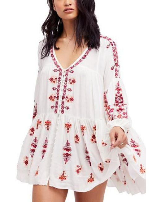 Free People - White Arianna Tunic - Lyst