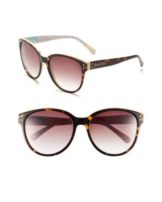 Lilly Pulitzer | Brown Lilly Pulitzer 'atwood' 58mm Sunglasses | Lyst