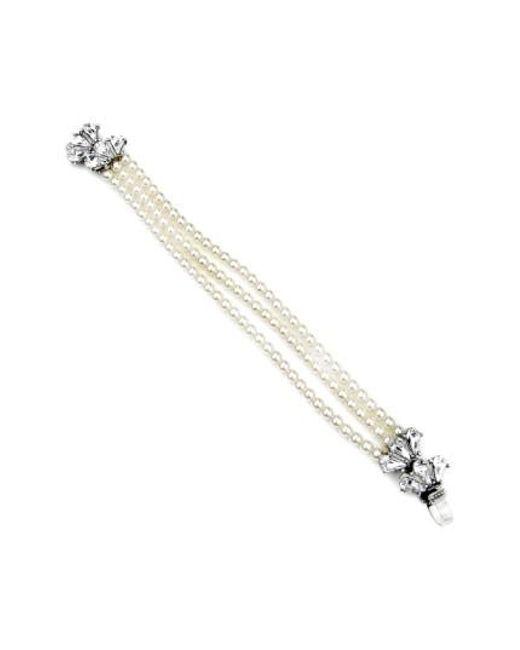 Ben-Amun | White 'cascading Crystal' Glass Pearl Strand Bracelet | Lyst
