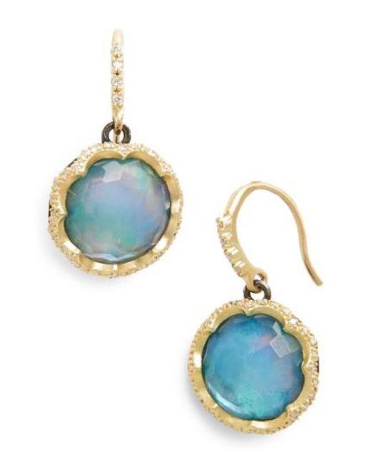Armenta - Blue Old World Opal Drop Earrings - Lyst