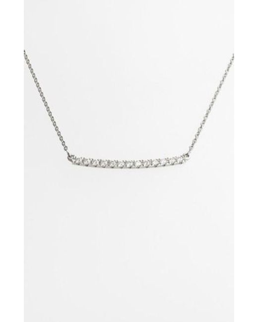 Bony Levy | White 'stick' Pave Diamond Bar Necklace (nordstrom Exclusive) | Lyst