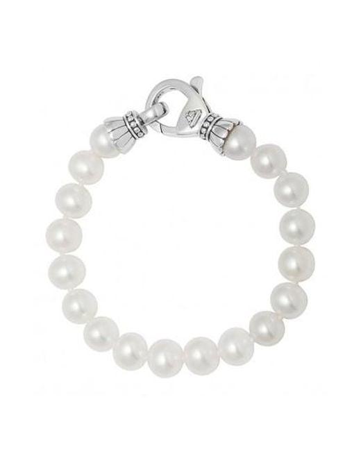 Lagos Luna Single-Strand Pearl Bracelet KLZO31f