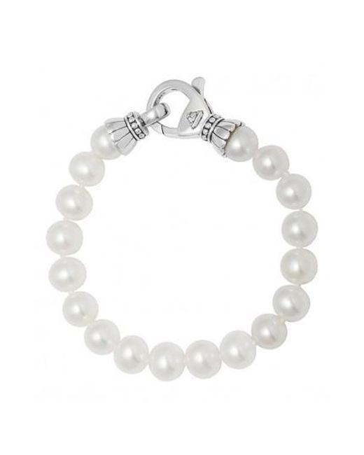 Lagos Luna Single-Strand Pearl Bracelet BbBbyym