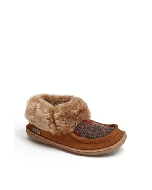 Woolrich | Brown 'autumn Ridge' Slipper Bootie | Lyst