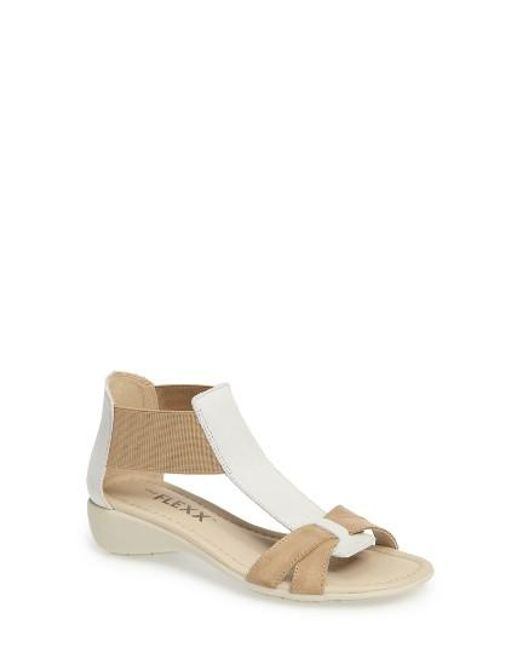The Flexx | Brown 'band Together' Sandal | Lyst