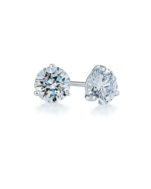 Kwiat - Metallic 1ct Tw Diamond & Platinum Stud Earrings - Lyst