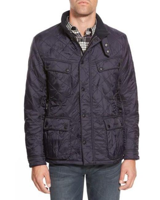 Barbour   Blue 'ariel' Regular Fit Polarquilt Coat for Men   Lyst
