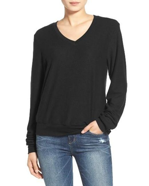 Wildfox | Black V-neck Pullover | Lyst