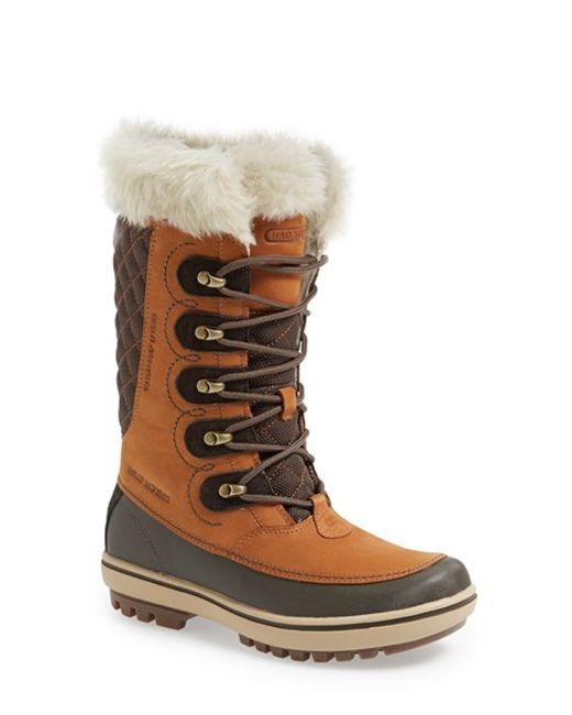 Helly Hansen | Brown 'garibaldi' Waterproof Snow Boot | Lyst