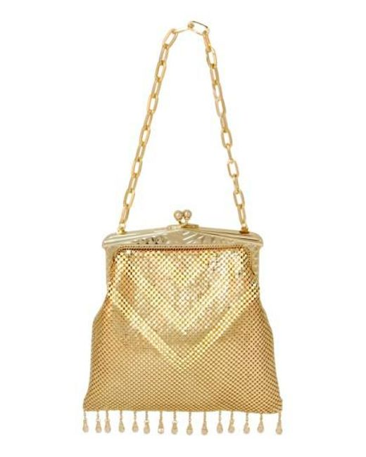 Whiting & Davis   'Heritage - Deco' Mesh Handbag - Metallic   Lyst
