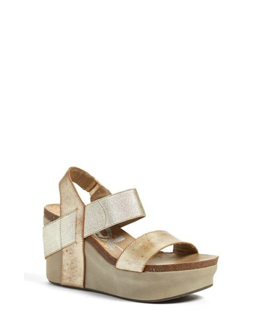 Otbt | Metallic 'bushnell' Wedge Sandal | Lyst