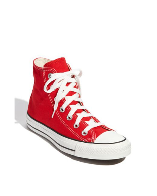Converse | Red Chuck Taylor High Top Sneaker | Lyst