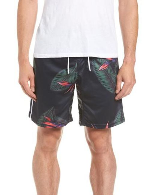 Zanerobe - Blue Lotus Sideline Shorts for Men - Lyst