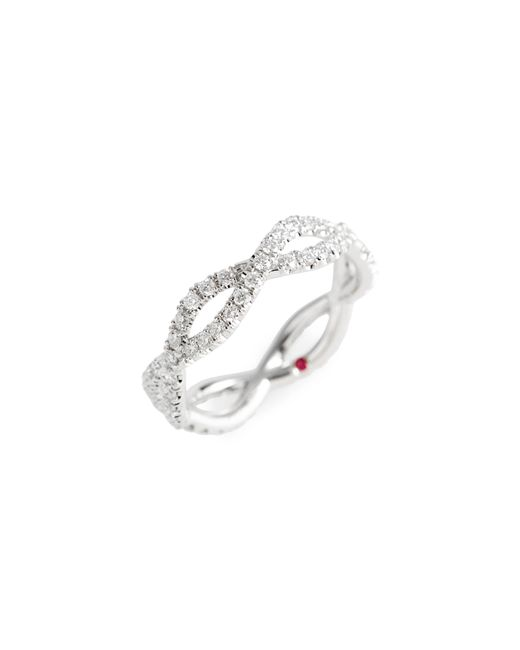 Roberto Coin - Metallic Diamond Infinity Ring - Lyst