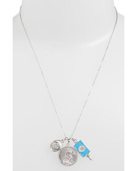 Melinda Maria - White Goddess Of Good Fortune Cluster Pendant Necklace - Lyst