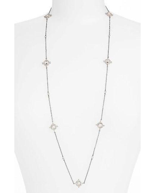 Freida Rothman   Metallic Long Station Necklace   Lyst