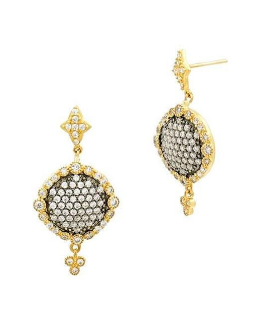 Freida Rothman | Metallic Disc Drop Earrings | Lyst