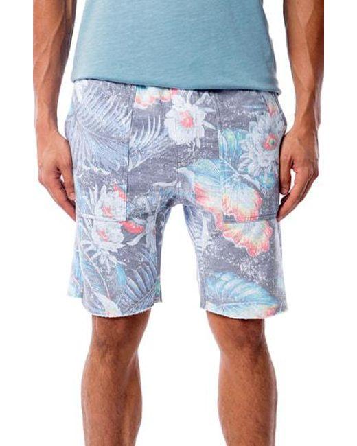 Sol Angeles - Blue Aqua Flora Saddle Shorts for Men - Lyst