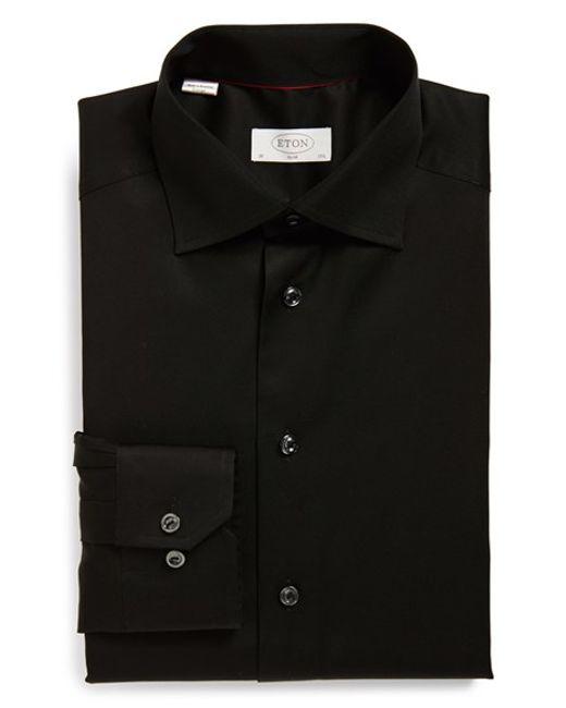 Eton of Sweden | Black Slim Fit Dress Shirt for Men | Lyst