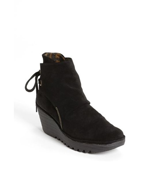 Fly London | Black 'yama' Bootie | Lyst