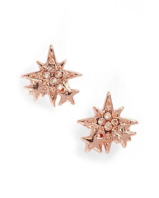 Rebecca Minkoff | Pink Stargazing Stud Earrings | Lyst