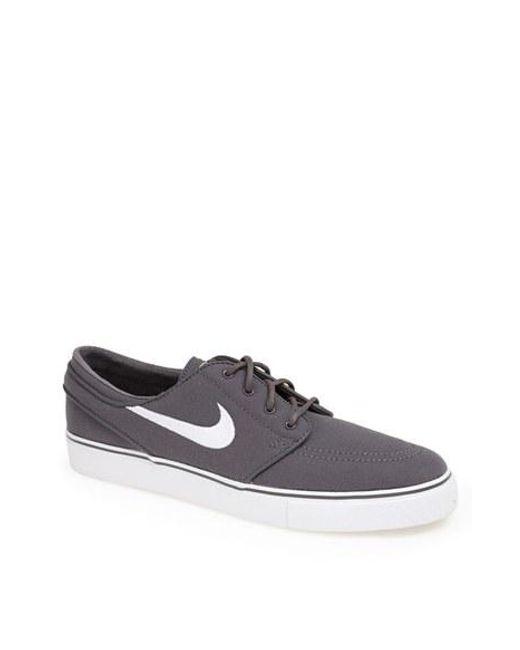 Nike | Gray 'zoom - Stefan Janoski Sb' Canvas Skate Shoe for Men | Lyst