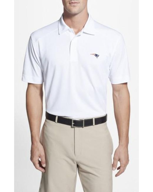 Cutter & Buck - White 'New England Patriots - Genre' Drytec Moisture Wicking Polo for Men - Lyst