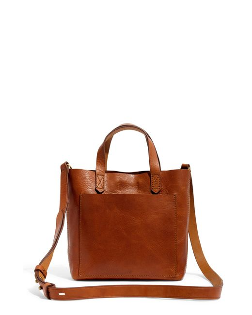 Madewell - Brown Small Transport Leather Crossbody Bag - Lyst