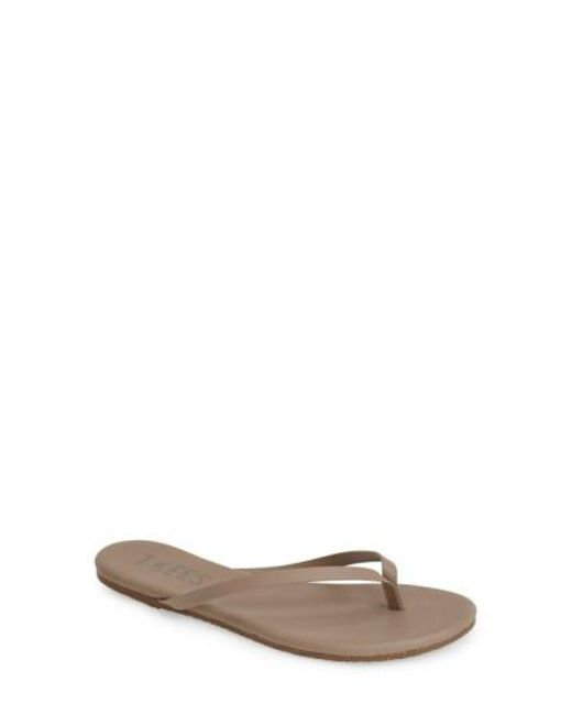 TKEES - Brown 'liners' Flip Flop - Lyst