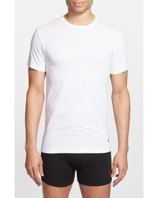 Polo Ralph Lauren - White Slim Fit Crewneck T-Shirt, (3-Pack) for Men - Lyst