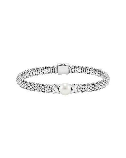 Lagos | Metallic 'luna' Pearl Rope Bracelet | Lyst
