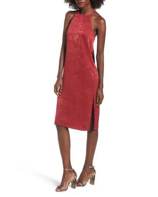 Soprano   Red High Neck Shift Dress   Lyst