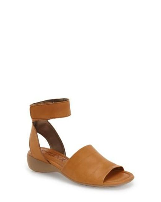 The Flexx | Brown 'beglad' Leather Ankle Strap Sandal | Lyst