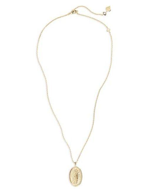 Wanderlust + Co - Metallic Iris Goddess Necklace - Lyst