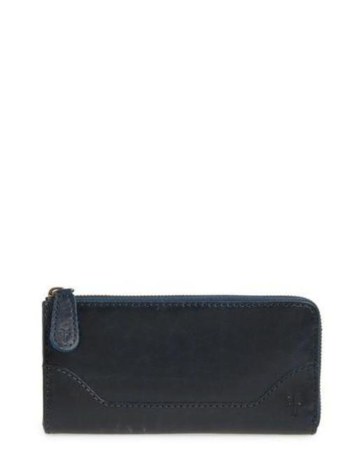 Frye | Blue Melissa Leather Wallet | Lyst