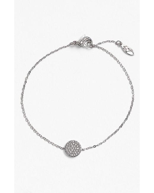 Nadri - Metallic 'geo' Station Bracelet - Lyst