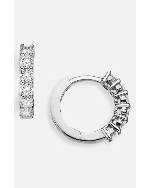 Roberto Coin | Metallic Diamond Hoop Earrings | Lyst